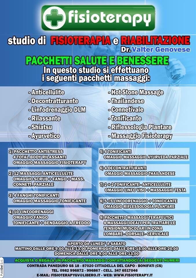 Pacchetti Salute E Benessere Fisioterapy Studio Di Fisioterapia E Riabilitazione